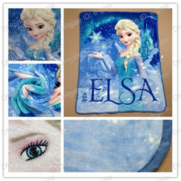 Wholesale Frozen Elsa Raschel Blanket frozen Dairy queen elsa adventures Frozen anime raschel blankets NEW HOT IN STOCK