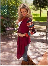 Wholesale Fashion Autumn Winter Oversized Tops Women Printed Long Sleeve Knit Cardigan Shirts Fashion T Shirt Women Clothes