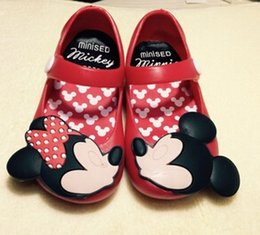 Wholesale 2015 Kids Shoes Girls princess New Limited Strap Baby Rubber Mini Melissa mickey Sandals Children mickey Summer shoes