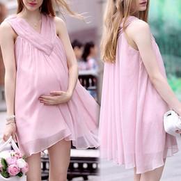 Удобные Лето материнства платья Плюс Размер платья для беременных женщин с Мода Элегантный шифон рукавов Свободные Одежда дамы