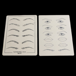 Wholesale 2 sheets Excellent Permanent Makeup Eyebrow lips Tattoo Practice Skin Training Skin Set For Beginners