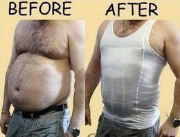 Wholesale S Men s Slimming shirt Belly Buster Body shaper Vest HOT