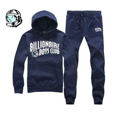 Wholesale hip hop set designs hoodie pants billionaire boys club bbc men clothing print in mens winter fleece hoodies