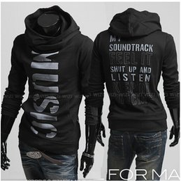 Wholesale 2811 New Fashion Brand Casual Personalized letters printed hedging Slim Men s Hoodies Sweatshirts