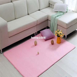 French Flannel Anti-slip Mats Carpets Bedroom Bathroom Area Rug for Living  Room Modern from