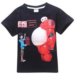 Wholesale 10pcs Big Hero Children Boys Girls Summer Tshirts Kids Clothing Short Sleeve Cartoon Cotton Tshirt Europe Movie Child Cute Tops H2621
