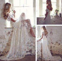 2016 Элегантные свадебные платья для пляжа Бисероплетение с капюшоном V-образным вырезом на корсете Кружевные свадебные платья Matched Bow White Ivory Custom Made New W2001