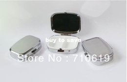 Wholesale FEDEX FEDEX Rectangle Metal Pill Boxes Organizer DIY Medicine Case Holder Silver