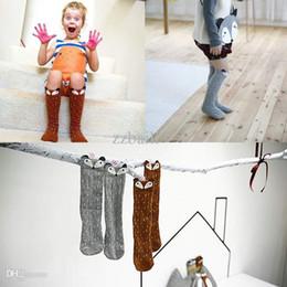 Wholesale pair Cotton Socks Point Fox Pattern Knee High Socks lovely Kids socks For Years