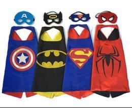 Hot Superhero Dress Up Costumes - Capes de satin et masques de feutre meilleur cadeau pour les enfants jouet