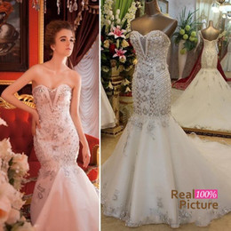 Rhinestone Corset Mermaid Wedding Dress Online | Rhinestone Corset ...