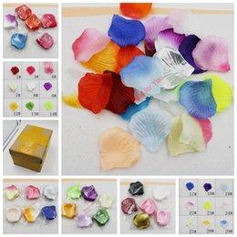 Wholesale MIC Artificial Silk Rose Petals Wedding Petal Flowers Events Wedding Accessories cm Colors