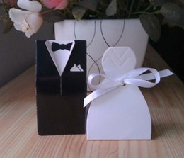 Wholesale 4 Style for choose Bride and Groom Wedding candy Boxes Hot Sale Bride and Groom Wedding Favor Box