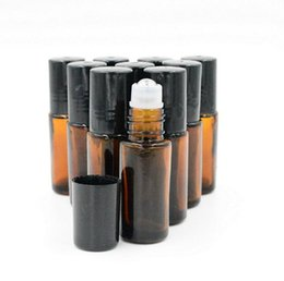 Wholesale 5ml Refillable Metal Roller Bottles Makeup Bottle Perfume Bottle Glass Bottle Aromatic Water Bottle ESSENTIAL OIL Bottle DHL PB087