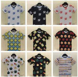 Wholesale New Emoji print men woman unisex t shirt cute cartoon tshirt casual top tees hemp hip hop emojis T shirt