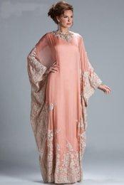Wholesale 2015 elegant Long Sleeve abaya in dubai kaftan Muslim Evening Dresses arabic Evening Gowns robe de soiree