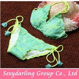 Wholesale Women Deep Sexy Flower Lace Push Up Bikini Straps Swimming Suit For Women Swim Suit