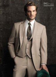 Wholesale 2014 Handsome Wedding Groom Tuxedos Jacket Tie Vest Pants Men Suits Custom Made Formal Suit for Men Wedding Bestmen Tuxedos Cheap