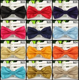 Wholesale Unisex Neck Bowtie solid color Bow ties Adjustable Bow Tie Optional for men women high quality