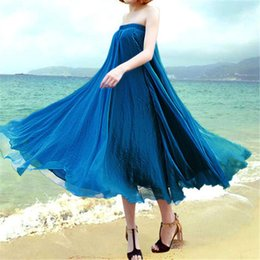 Wholesale Summer Womens Full Circle Chiffon Long Skirt Pleated Gauze Long AU Seller