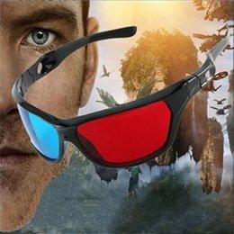 Wholesale Caliente a estrenar Venta anaglifo dimensional cuadro de película de plástico azul rojo de la lente Gafas D
