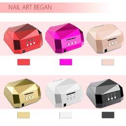 Wholesale UV Nail Dryer Nail Lamp UV Lamp LED Ultraviolet Lamp Diamond Shaped CCFL Curing for UV Gel Nails Polish Nail Art Tools