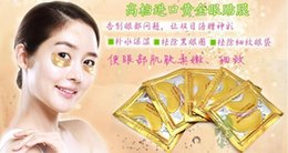 Wholesale Hotsale10pcs Gold Crystal collagen Eye Mask Hotsale eye patches packs A3A5