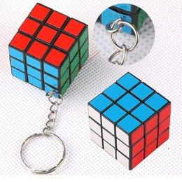 Wholesale Mix Color New CM Keychains Magic Cubes Puzzle Square Keychains