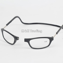 Wholesale Clic Resin Reading Glasses Slim Magnet Reading Glasses Eyewear Far sighted Colors Hang On Neck For Old People