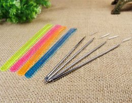 Wholesale 12CM Blackhead Extractor Acne Remover Needle Pin Pimple Facial Cleaner Appliances Stainless Steel