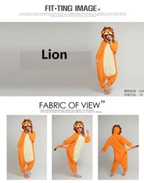 Wholesale 2015 New Unisex Men Women Adult Pajamas Cosplay Costume Animal Onesie Lion Sleepwear S M L XL