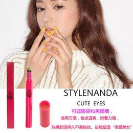 Wholesale 3CE stylenanda double red eye shadow pen box pen lying silkworm craving head authentic Korean cosmetics