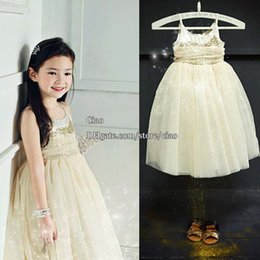 Wholesale Party Dress Korean Girl Dress Princess Dress Girls Long Dresses Children Clothes Kids Clothing Sequin Dress Spring Summer Dresses L42398