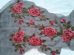 Wholesale 1 piece patches cm cm zakka patchwork textile tecido decorative applique felt new flowers embroidery D diy handmade