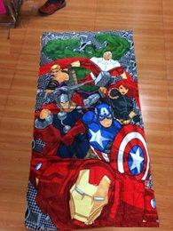12pcs 2014 Iron man toalla de baño Marvel Avengers 150 * 72 toallas de algodón de los niños del cuarto de baño de la playa los niños toalla toalla de baño hombre araña toallas