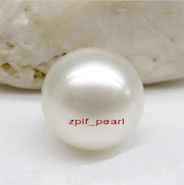 Wholesale A AAA mm south sea white pearl Half naked bead hole