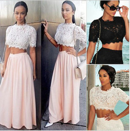 Wholesale 2015 Women New Spring Summer Blusa Renda Sexy White Lace Slim t shirt See Through Casual Blouse Lace Crop Tops