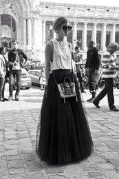 Wholesale Excellent Quality Black Petticoat Stock Girl Women Vintage Prom Evening Dress Slip Underskirt Long Black Petticoats