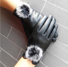 2016 hermosas Ribbit guantes de cuero de piel de bolas para Guantes de invierno Marca manopla LUVAS Mujeres Guantes guantes hembra envío libre de DHL 60089