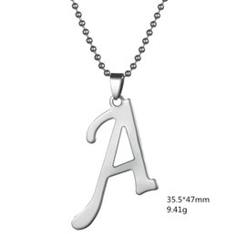 2016 new fashion design diy letter a b c d pendant for man and woman necklaces