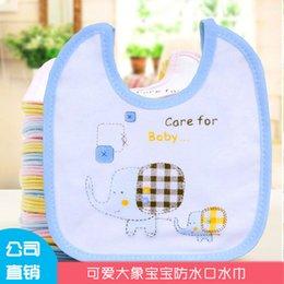 Wholesale Baby towel bibs and cotton burp cloth children animal handkerchief baby wear