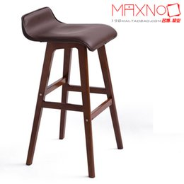 Wholesale North European style furniture solid wood bar chair home use high stool fashion stools colors