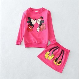 Wholesale autumn Mickey Mouse childrens dresses cartoon Minnie Mouse dress Hundred cotton girls outfits childrens