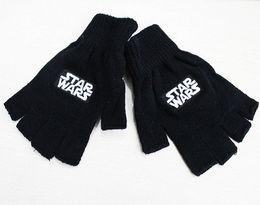 30 пар Звездные войны Теплые перчатки Mans перчатка черный перчатки без пальцев Star Wars: The Force пробуждается