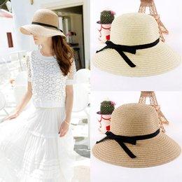 Wholesale Women Summer Hat Foldable Straw Hats Fashion Sun Hat Top Quality Beach Headwear Chapeu Feminino Camel Beige