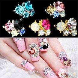Wholesale 10Pcs D DIY Shiny nail stickers on nails Metallic Rhinestones Crystal Nail Art Tips Studs Phone Decor