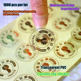 Wholesale Personalized transparent PVC custom self adhesive label sticker gift tag stickers customized brand logo