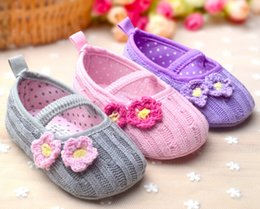 Wholesale baby girl shoes hot sale baby princess shoes sweet baby princess shoes flower design colors for choose