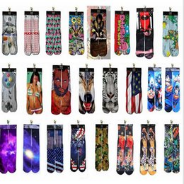 Wholesale 1pair Alisister harajuku men socks d odd characters print weed socks Printed Unisex Cotton funny High Socks