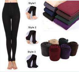 2014 New Leggings para mulheres Chegada casual Winter Faux Veludo Legging Knitted Thick Slim Leggings Super Elastic frete grátis